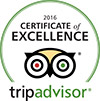 Certificate of Excellence 2016 Trip Advisor